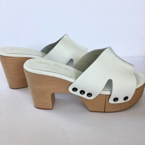 Robert Clergerie white platform sandals
